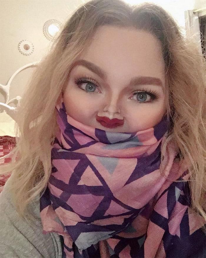 Esta pequena maquiagem para o rosto é a solução perfeita para uma máscara de coronavírus (37 fotos) 25