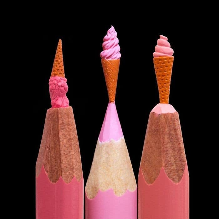 Este artista cria impressionantes esculturas minúsculas no lápis (34 fotos) 5