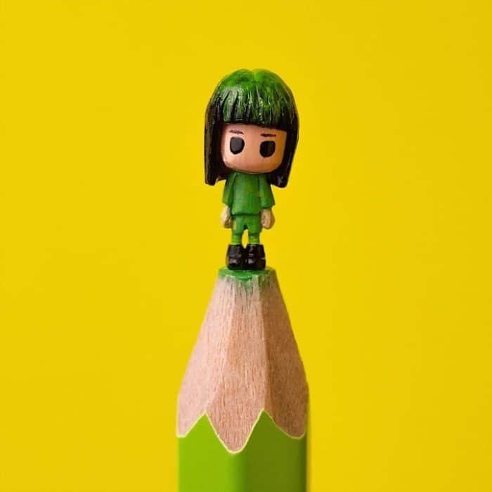 Este artista cria impressionantes esculturas minúsculas no lápis (34 fotos) 16