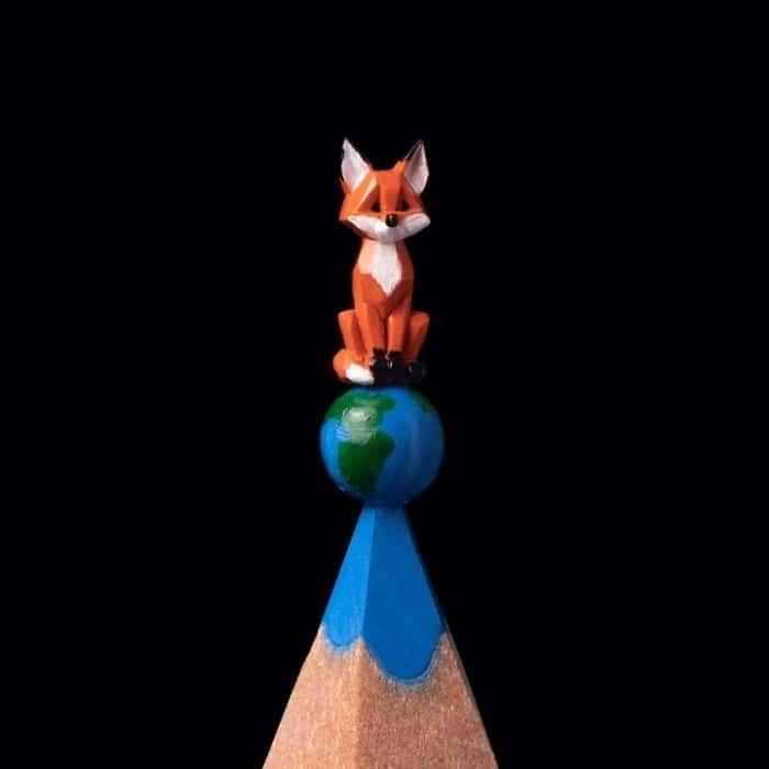 Este artista cria impressionantes esculturas minúsculas no lápis (34 fotos) 17