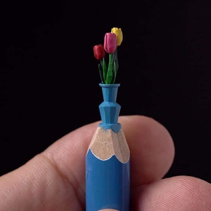 Este artista cria impressionantes esculturas minúsculas no lápis (34 fotos) 34