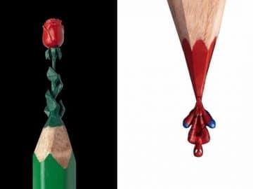 Este artista cria impressionantes esculturas minúsculas no lápis (34 fotos) 35