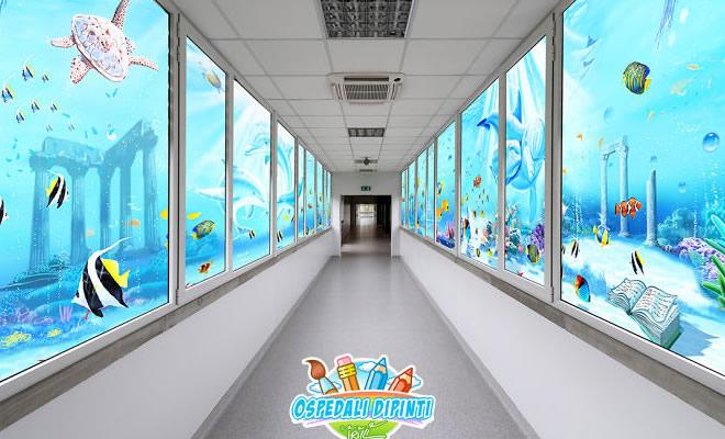34 fotos de belos murais em hospitais do artista italiano que ajudam crianças e adultos 2