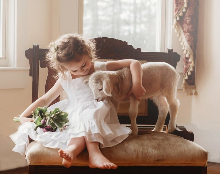 32 momentos mais inocentes da crianças com animais 3