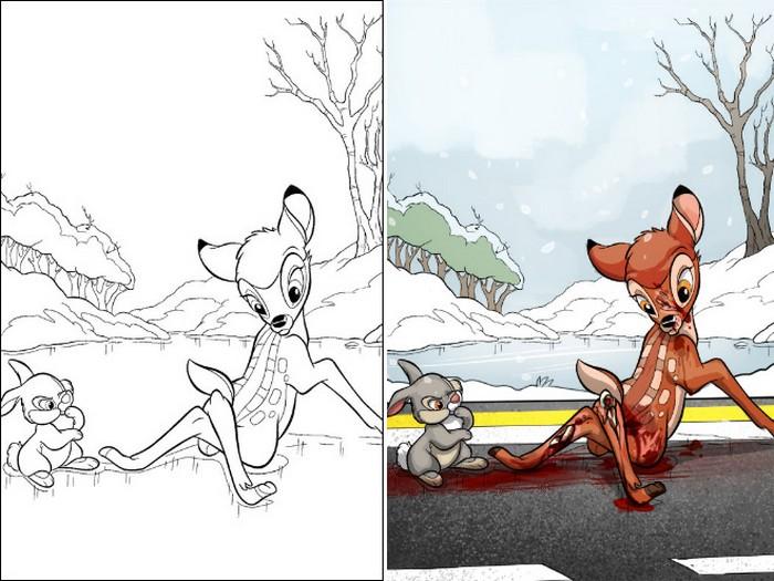 O que acontece quando adultos resolvem colorir livro de crianças (27 fotos) 4