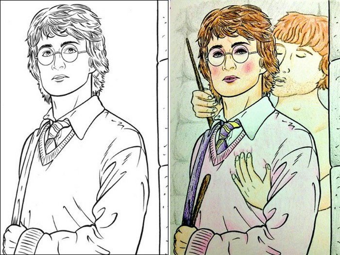 O que acontece quando adultos resolvem colorir livro de crianças (27 fotos) 5