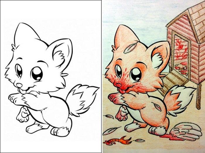 O que acontece quando adultos resolvem colorir livro de crianças (27 fotos) 7