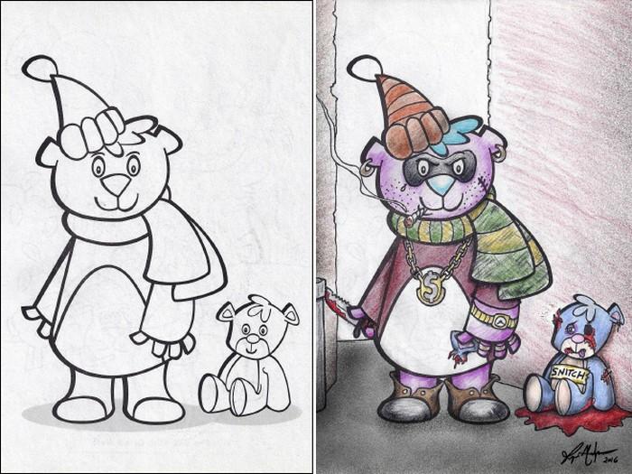 O que acontece quando adultos resolvem colorir livro de crianças (27 fotos) 8