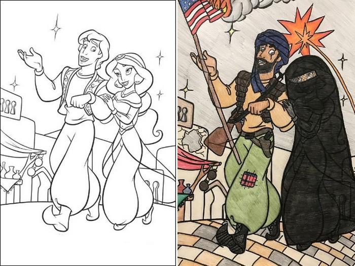 O que acontece quando adultos resolvem colorir livro de crianças (27 fotos) 9