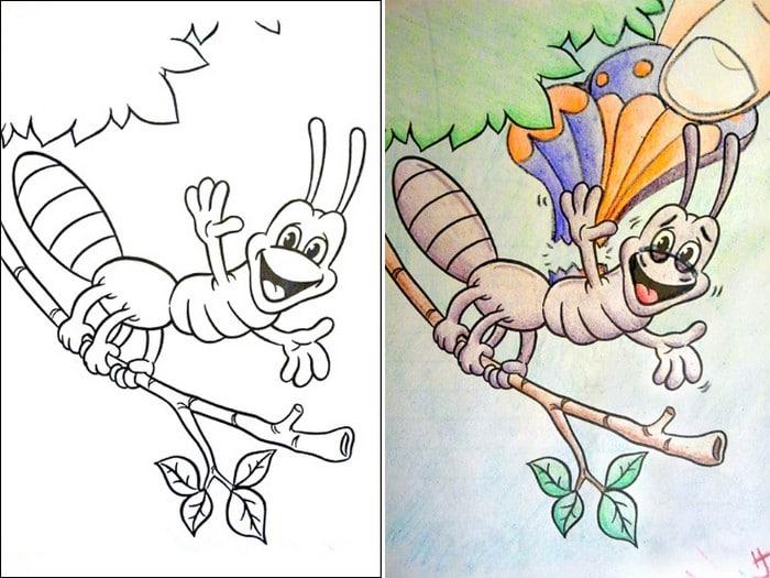 O que acontece quando adultos resolvem colorir livro de crianças (27 fotos) 10