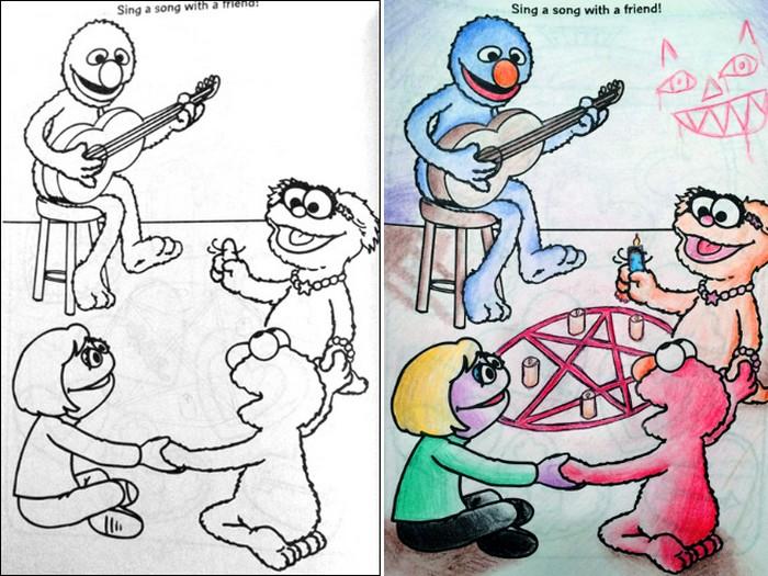 O que acontece quando adultos resolvem colorir livro de crianças (27 fotos) 11