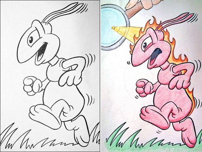 O que acontece quando adultos resolvem colorir livro de crianças (27 fotos) 12