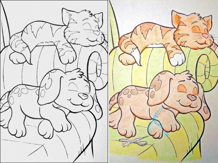 O que acontece quando adultos resolvem colorir livro de crianças (27 fotos) 16