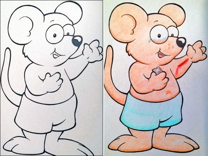 O que acontece quando adultos resolvem colorir livro de crianças (27 fotos) 20