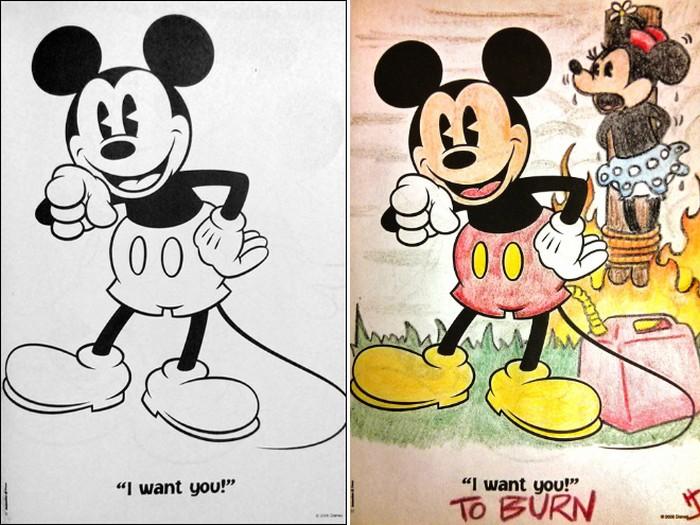 O que acontece quando adultos resolvem colorir livro de crianças (27 fotos) 23