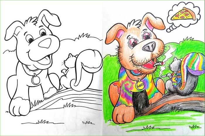 O que acontece quando adultos resolvem colorir livro de crianças (27 fotos) 24