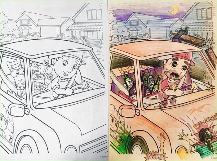 O que acontece quando adultos resolvem colorir livro de crianças (27 fotos) 25