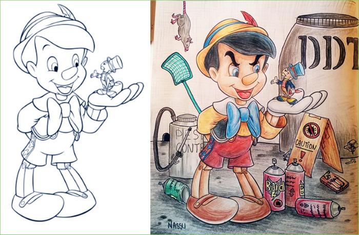 O que acontece quando adultos resolvem colorir livro de crianças (27 fotos) 27