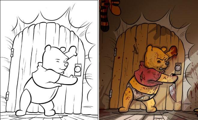O que acontece quando adultos resolvem colorir livro de crianças (27 fotos) 1