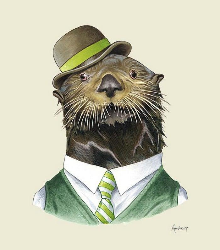 20 retratos de animais muito bem vestidos por Ryan Berkley 2