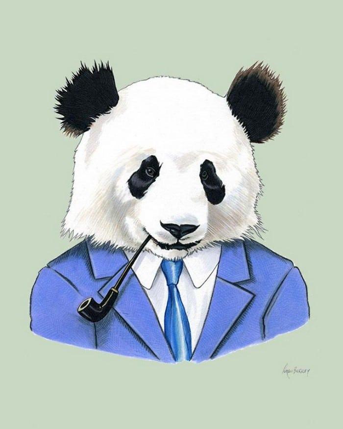20 retratos de animais muito bem vestidos por Ryan Berkley 4