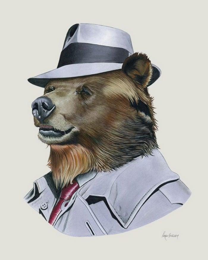20 retratos de animais muito bem vestidos por Ryan Berkley 6