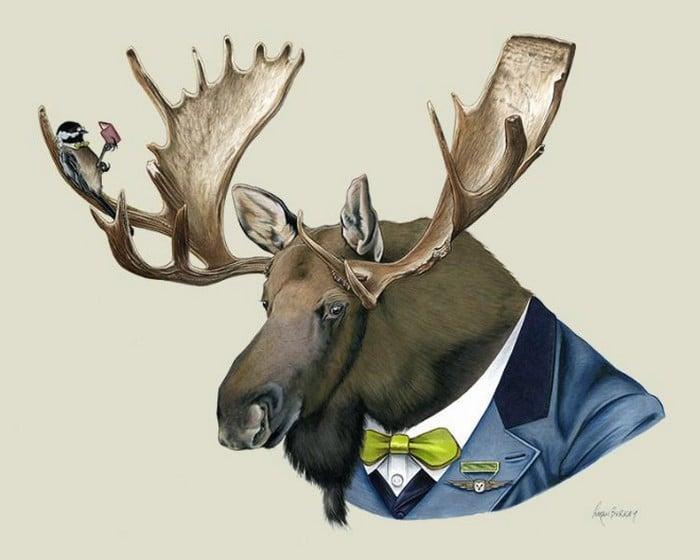20 retratos de animais muito bem vestidos por Ryan Berkley 14