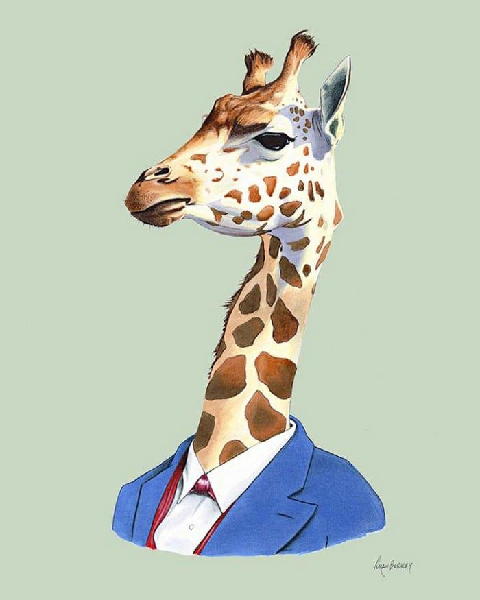 20 retratos de animais muito bem vestidos por Ryan Berkley 15