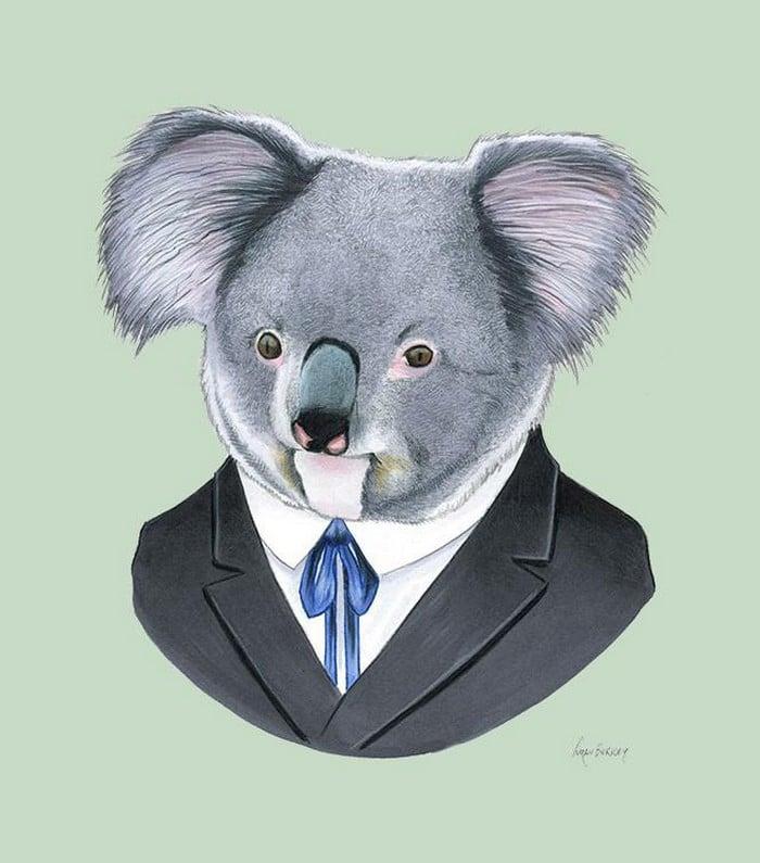 20 retratos de animais muito bem vestidos por Ryan Berkley 19