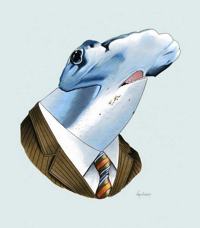 20 retratos de animais muito bem vestidos por Ryan Berkley 20