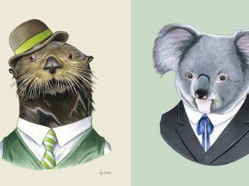 20 retratos de animais muito bem vestidos por Ryan Berkley 27