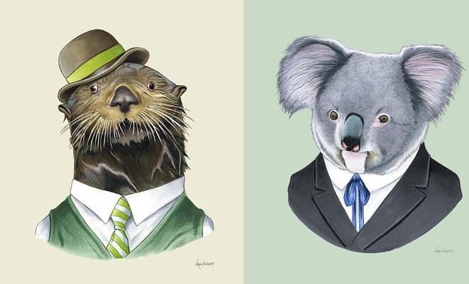 20 retratos de animais muito bem vestidos por Ryan Berkley 37