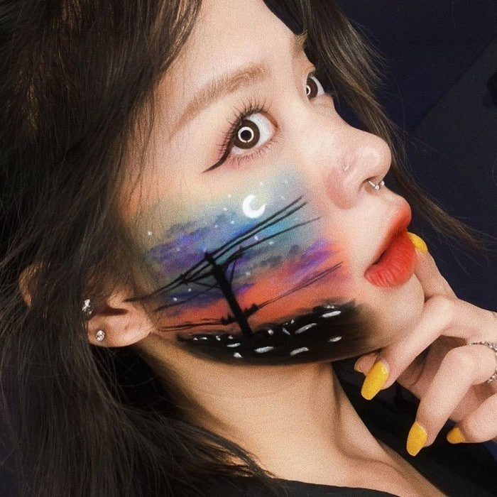 A maquiadora usa seu rosto e corpo como tela para criar ilusões de ótica alucinantes (25 fotos) 4