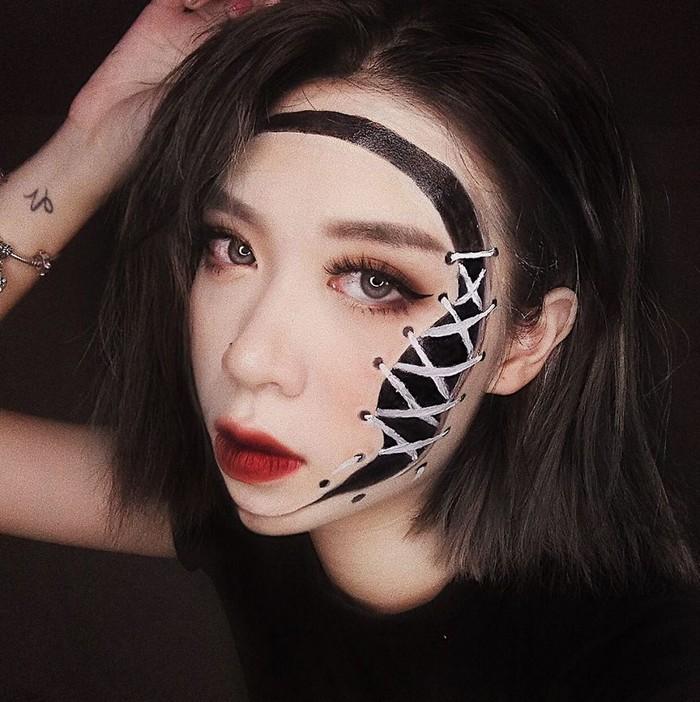 A maquiadora usa seu rosto e corpo como tela para criar ilusões de ótica alucinantes (25 fotos) 7