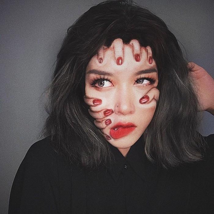 A maquiadora usa seu rosto e corpo como tela para criar ilusões de ótica alucinantes (25 fotos) 11