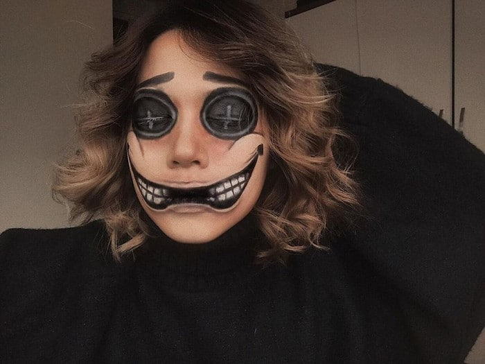 A maquiadora usa seu rosto e corpo como tela para criar ilusões de ótica alucinantes (25 fotos) 13