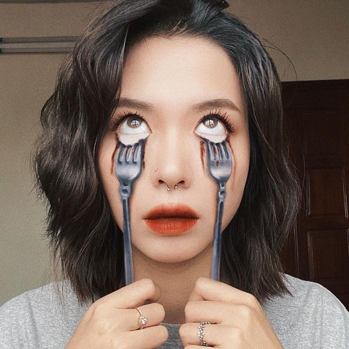 A maquiadora usa seu rosto e corpo como tela para criar ilusões de ótica alucinantes (25 fotos) 20