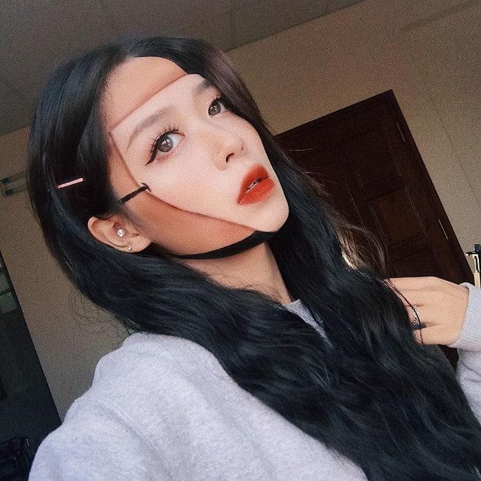 A maquiadora usa seu rosto e corpo como tela para criar ilusões de ótica alucinantes (25 fotos) 22
