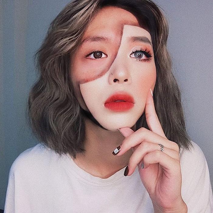 A maquiadora usa seu rosto e corpo como tela para criar ilusões de ótica alucinantes (25 fotos) 26