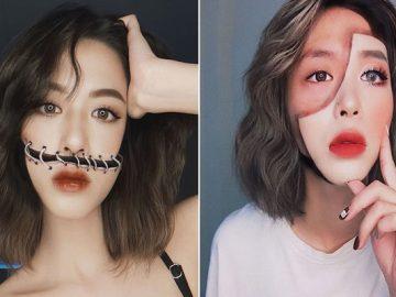 A maquiadora usa seu rosto e corpo como tela para criar ilusões de ótica alucinantes (25 fotos) 3
