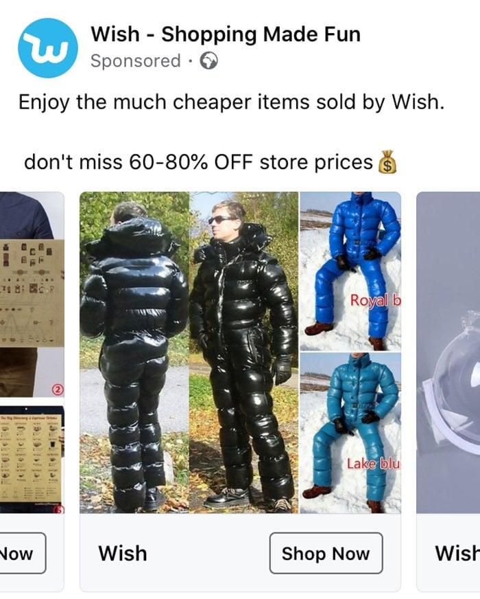 40 anúncios estranhos que não têm explicações do Wish 7