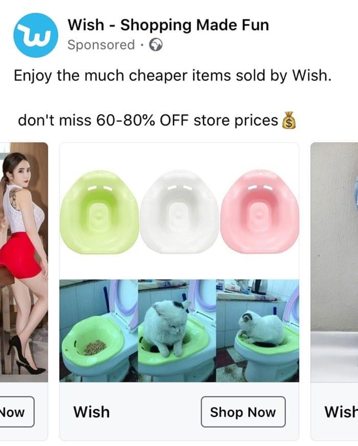 40 anúncios estranhos que não têm explicações do Wish 15