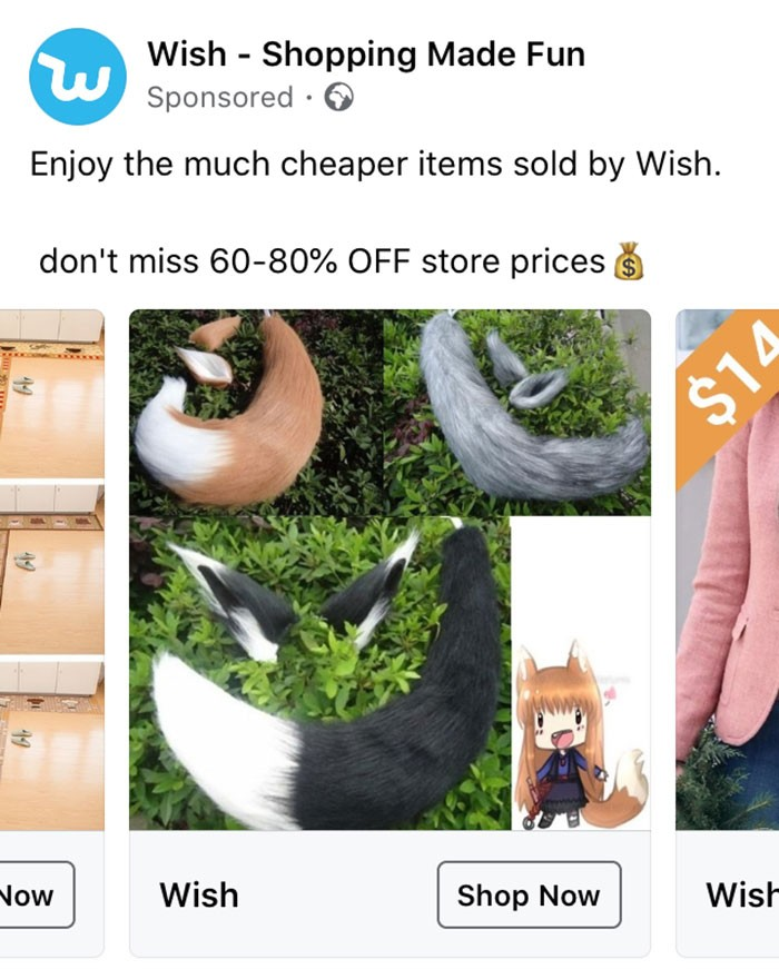 40 anúncios estranhos que não têm explicações do Wish 17