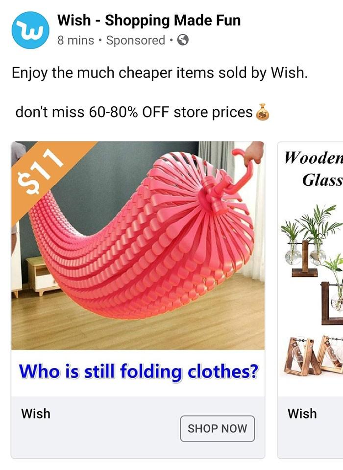 40 anúncios estranhos que não têm explicações do Wish 40