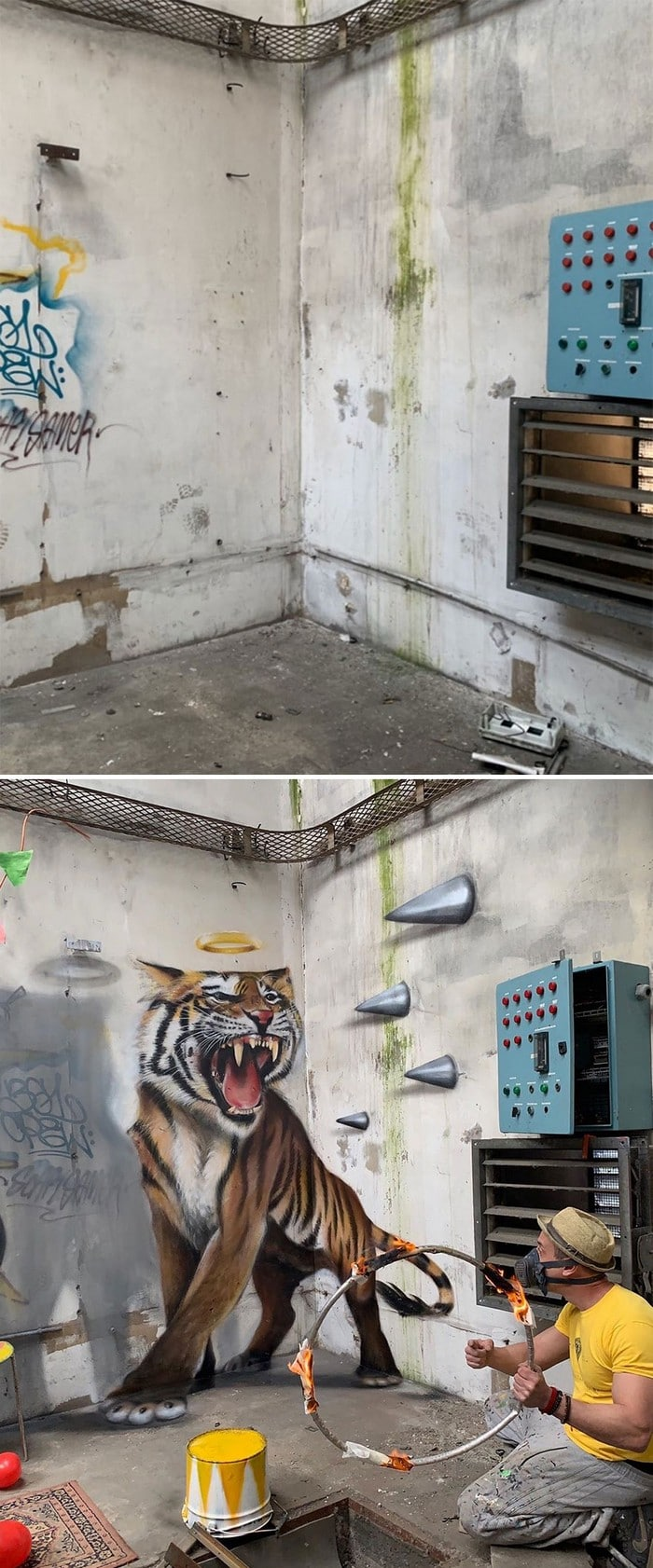 Artista de rua francês pinta grafite de criatura 3D (43 fotos) 4
