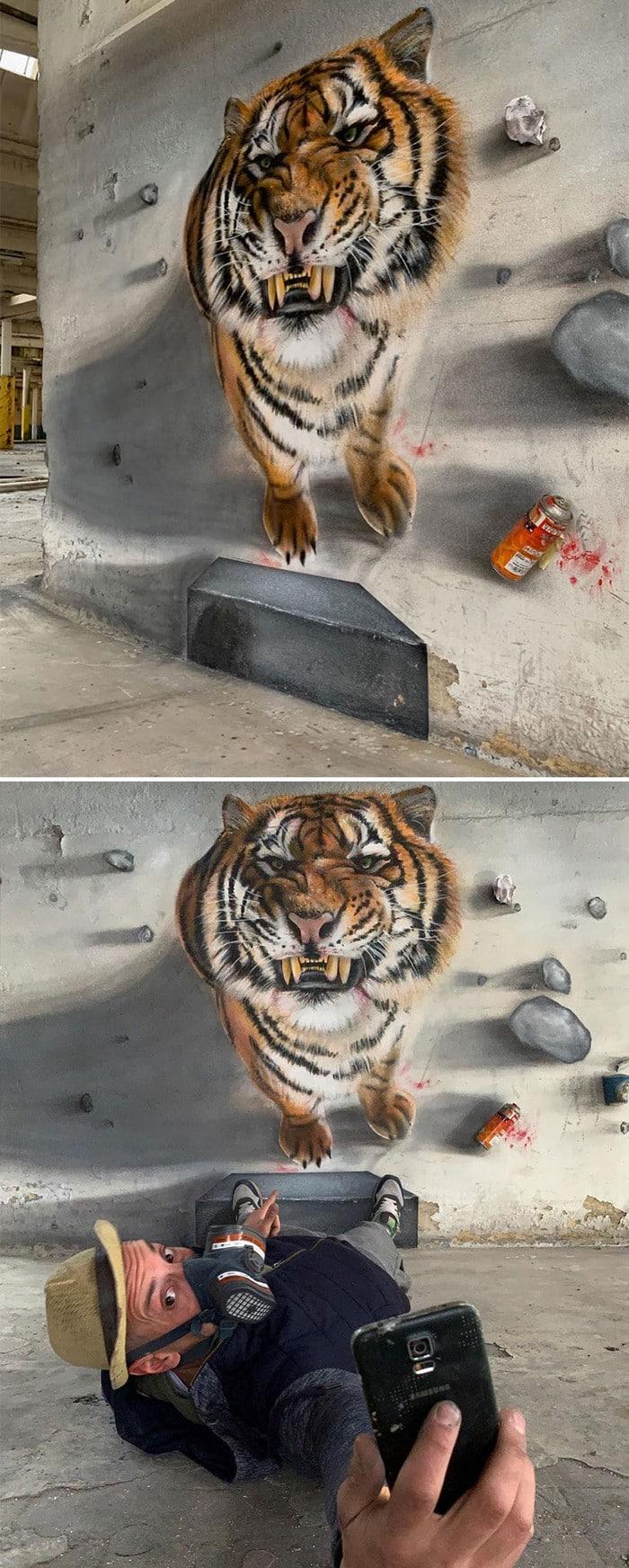 Artista de rua francês pinta grafite de criatura 3D (43 fotos) 5