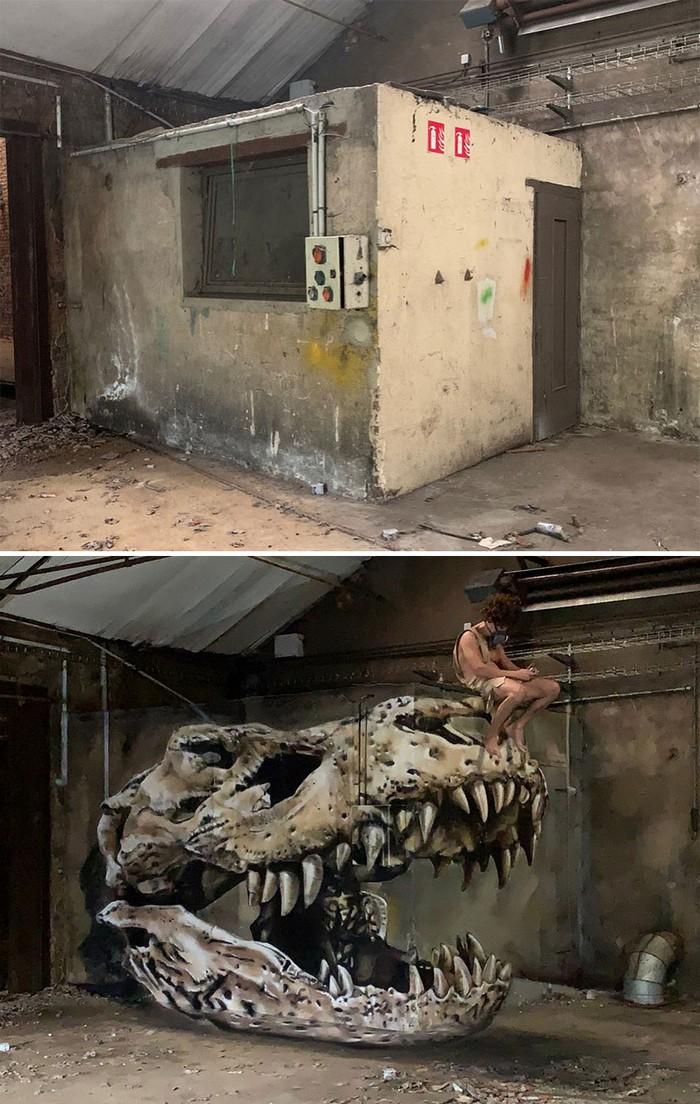 Artista de rua francês pinta grafite de criatura 3D (43 fotos) 6