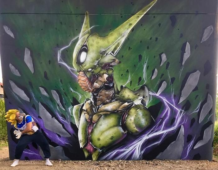 Artista de rua francês pinta grafite de criatura 3D (43 fotos) 8