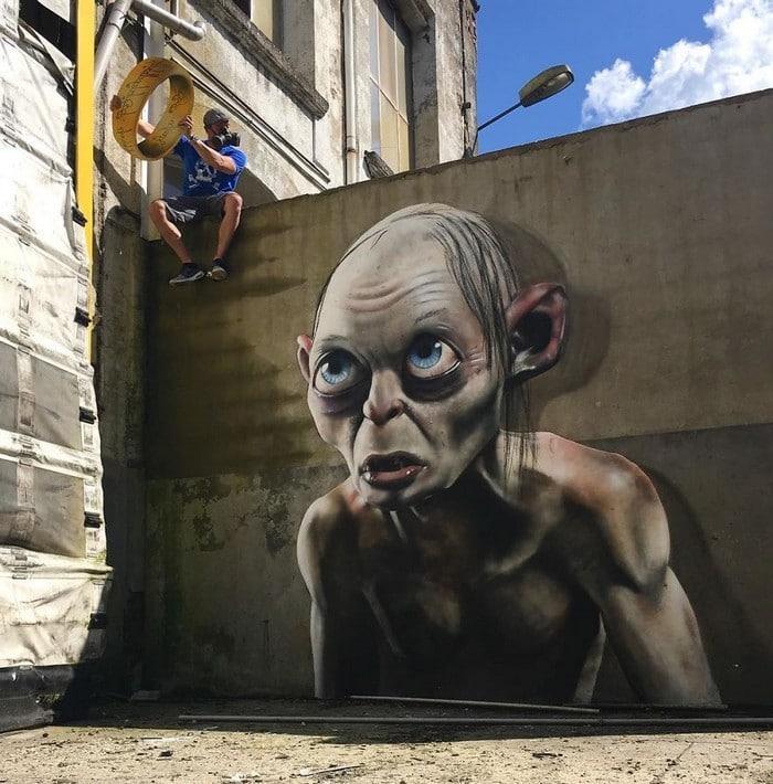 Artista de rua francês pinta grafite de criatura 3D (43 fotos) 10