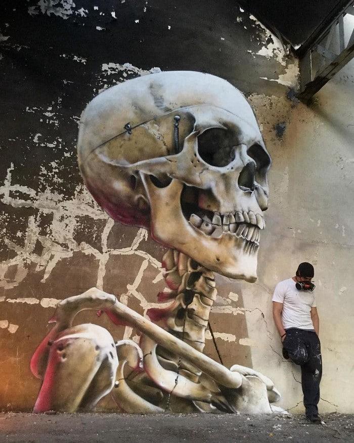 Artista de rua francês pinta grafite de criatura 3D (43 fotos) 19
